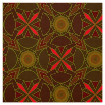 Brown abstract pattern fabric