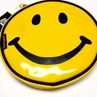 Smiley Face Bag Zippered Yellow Pouch Tech Gear Pencil Case Emoji