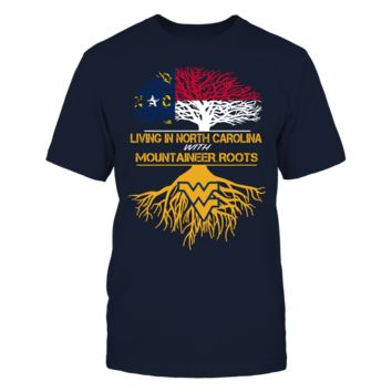 West Virginia Mountaineers - Living Roots North Carolina - T-Shirt - Officially Licensed Fashion Sports Apparel