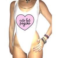 Cute But Psycho bodysuit O/S