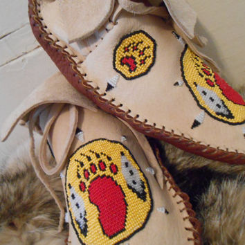 Custom Made to Order Beaded Moccasins, Short Mocs, Handmade, Hand Beaded, Native American, Hippie, Boho, Powwow, Grounding Shoes, Regalia