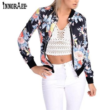 2017 New Autumn Printed Jacket Women Thin Spring Military Outerwear Casual Female Coat NS8607