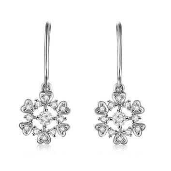 NEIL LANE WHITE COLOR GOLD DIAMOND FLOWER EARRINGS