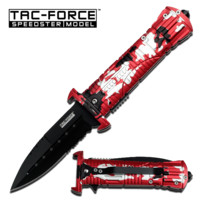 Red Urban Camo Knife