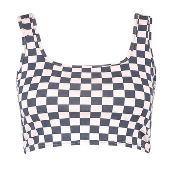 Plus Checkerboard Crop Top | Boohoo
