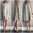 A Potato Sack Dress in Sage