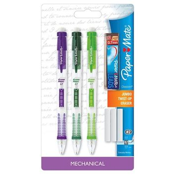Paper Mate® #2 Mechanical Pencils with Lead 0.7mm Multicolor - 3ct