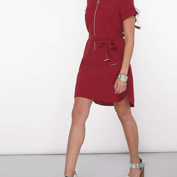 Petite Wine Zip Shirtdress - View All New In - New In