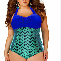 est Plus Size Swimwear For  One Pieces Swimsuit   Bathing Suit Padded Swimsuit Monokini  Mermaid Swimwear Bodysuit