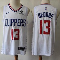 Los Angeles Clippers 13 Paul George White Swingman Jersey