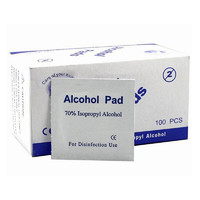 Portable Useful 100pcs/Box Alcohol Swabs Pads Wipes Cleanser Sterilization 70% Isopropyl First Aid Home