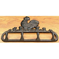 Rooster Coat Hook Cast Iron