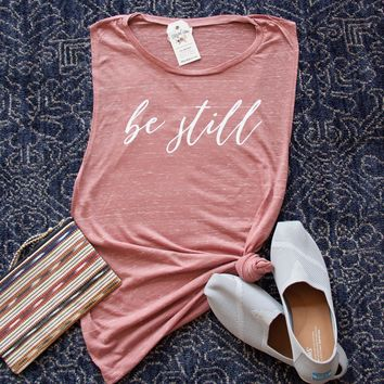Be Still Ladies Muscle Tank