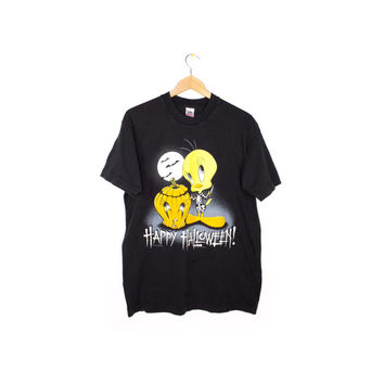 90s TWEETY halloween shirt - vintage 1990s - looney tunes - tweety bird - spooky