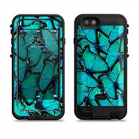 The Turquoise Butterfly Bundle Apple iPhone 6/6s LifeProof Fre POWER Case Skin Set