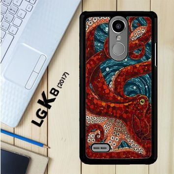 Kraken Octopus Stained Glass L1586 LG K8 2017 / LG Aristo / LG Risio 2 / LG Fortune / LG Phoenix 3 Case
