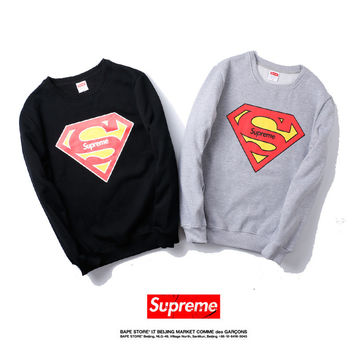 Supreme Winter Round-neck Pullover Print Hoodies [9453879047]