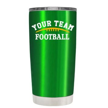 TREK Custom Football Team on Translucent Green 20 oz Tumbler Cup