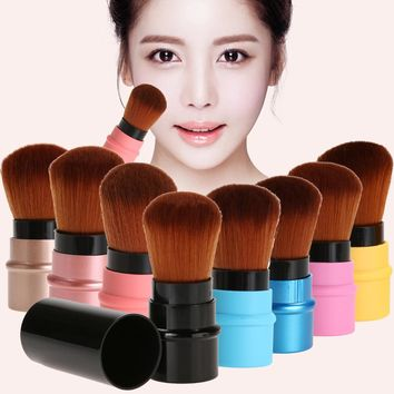 11.11 1pc Portable Retractable Brush Professional Cosmetic Foundation Blusher Face Blush Powder Brushes Beauty maquiagem Makeup
