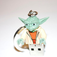 4GB Yoda USB Lego Minifigure Flash Drive with Key Chain