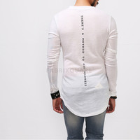 Vandals Back Printed Long Extended Knit Tee