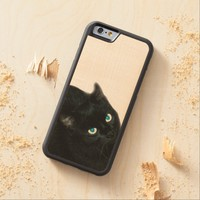 Black Cat iPhone 6 Bumper Wood Case