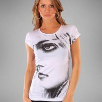 GIRL EYE T-SHIRT-Graphic Tees-Women's Graphic Tees,Graphic Tops,Print Graphic Tees,Graphic T Shirts,women designer tees,tube Fashion tops