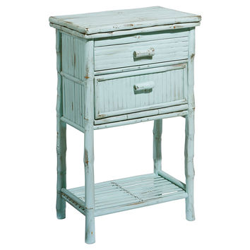 Imogen 2-Drawer Side Cabinet, Dusty Aqua, Nightstands