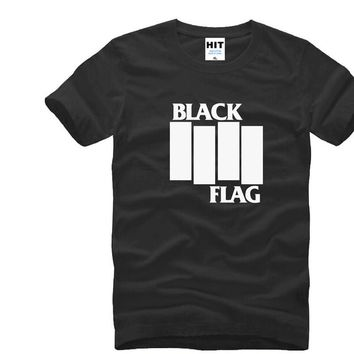 SHIRT BLACK FLAG punk rock band Henry Rollins large bars Printed Mens T Shirt