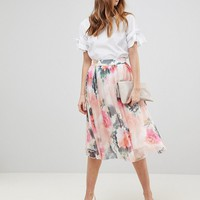 Y.A.S Printed Full Skirt Two-Piece at asos.com