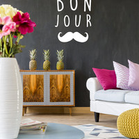 Bonjour Wall Decals, Wall Stickers, Typography Stickers, Bonjour Sticker, Bonjour Decal, Nursery Decal, Typography Decals, Nursery Decor