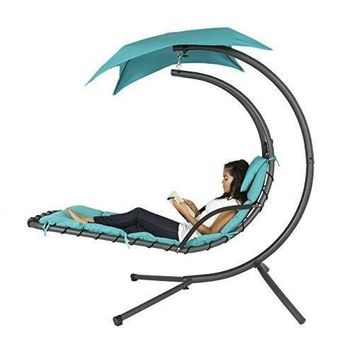 Outdoor  Canopy Chaise Lounger Chair Stand Swing Hanging Hammock Porch