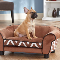 Brown Lotus Chevron Pet Bed | zulily