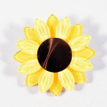 Erstwilder Yellow Sumptuous Sunflower Resin Brooch