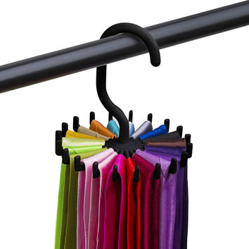 Rotating ties Rack Adjustable Tie Hanger Holds 20 Neck Ties Organizer For Men neck tie Holder Hanger mutfak clothes hanger rack