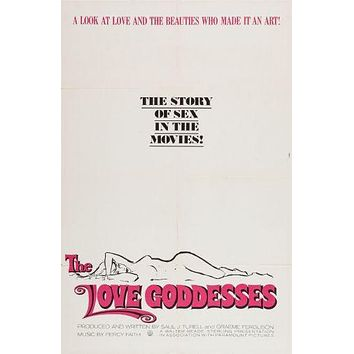 Love Goddesses The Movie poster Metal Sign Wall Art 8in x 12in