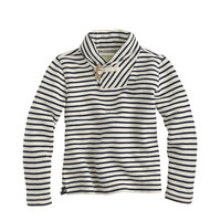 crewcuts Boys Shawl-Collar Striped Sweatshirt