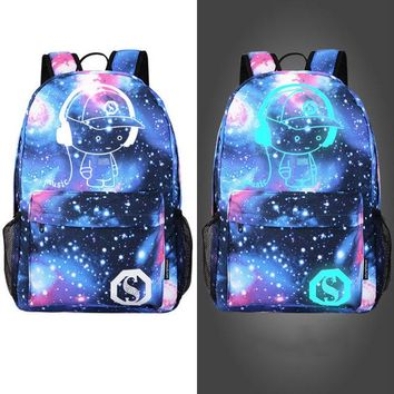 University College Backpack Starry Sky Cartoon Cool Fluorescence  Rucksack School Bag Night Light For Boys Girls Student  Personality BP-106AT_63_4