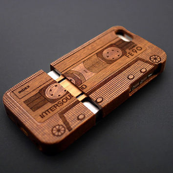 Buy 1 Get 1 Free-Tape Wood iPhone 5C / 5 / 4 Case - Wood iPhone 5C Case - iPhone 5C Case Wood - Real iPhone5C Case Wood -  Wooden iPhone 5C