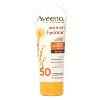 Aveeno Active Naturals Protect + Hydrate for Face SPF 50 Sunscreen Lotion | Walgreens