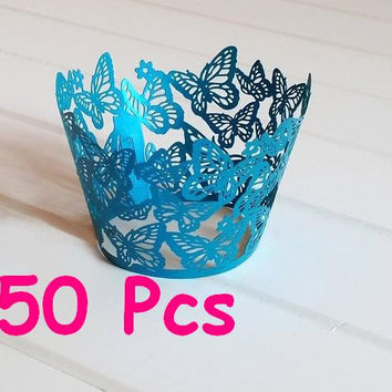 Stencil butterfly laser cut wrapper fancy butterfly lace wedding Cupcake Wrappers party cake wrapper lace wrapper happy party cake wrapper