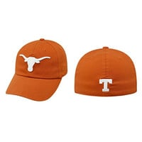 Texas Longhorns Cap Top of the World Relaxer 1Fit Flex Hat - Texas Orange