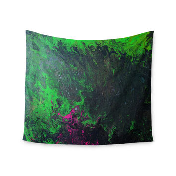 "Claire Day ""Acid Rain"" Green Black Wall Tapestry"