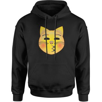 Color Emoticon - Cat Face Smiley Adult Hoodie Sweatshirt
