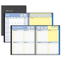 appointment book, weekly, 13 month, black