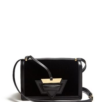 Barcelona velvet and leather shoulder bag | Loewe | MATCHESFASHION.COM US