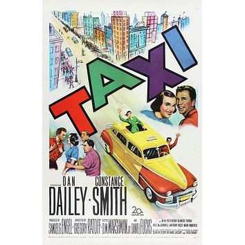 Vintage Taxi Poster//Classic Movie Poster//Movie Poster//Poster Reprint//Home Decor//Wall Decor//Vintage Art