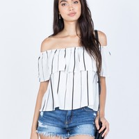 Evelyn Striped Top
