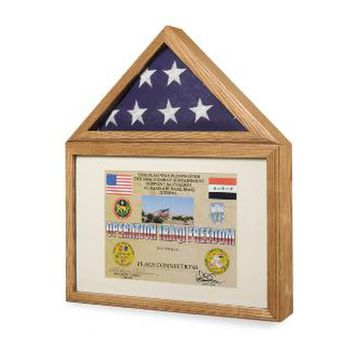 Flag display case - Flag shadow box, flag and medals Case Hand Made By Veterans