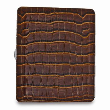 Brown Faux Leather Cigarette/card Case